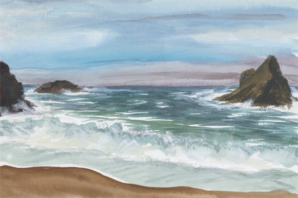 Elk Cove Post Storm by Jaye Alison Moscariello